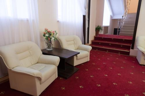 A seating area at Apart Hotel Cherepovets