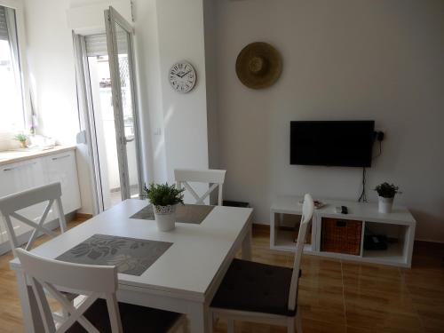 A television and/or entertainment center at Summer apartment