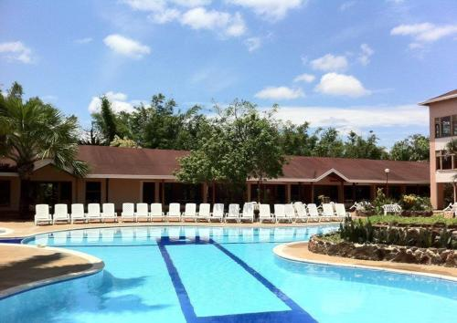 The swimming pool at or near Hotel Lagos de Menegua