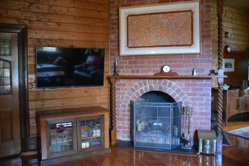 A television and/or entertainment center at Portarlington Vicarage