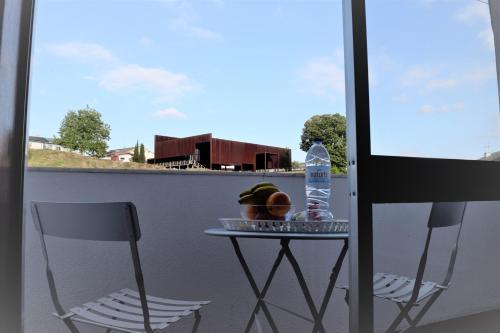 A balcony or terrace at Braga cosy apartment