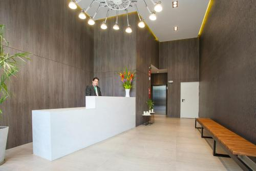 The lobby or reception area at Lima Walking Apartments - Central Miraflores