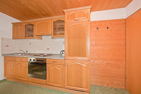 Küche/Küchenzeile in der Unterkunft Alpenhof Klais