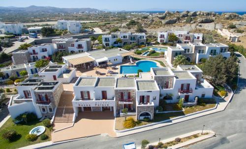 A bird's-eye view of Naxos Palace Hotel