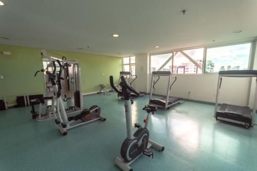 The fitness centre and/or fitness facilities at Iguatemi Business & Flat