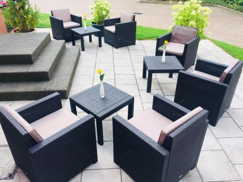 A porch or other outdoor area at Hotel Barbarossa