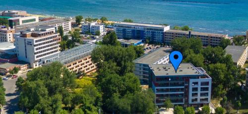 Vedere de sus a Apartamente Coralia Mamaia