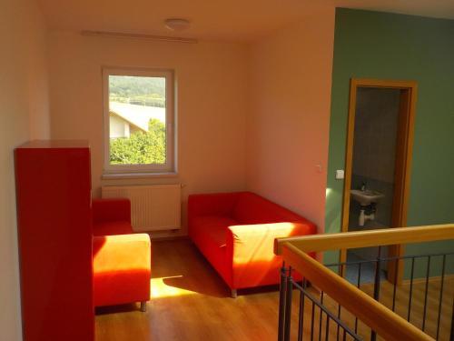 Posezení v ubytování Guest House Beroun