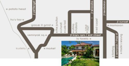 The floor plan of Hevea Villas