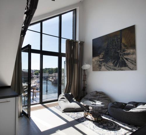 Telewizja i/lub zestaw kina domowego w obiekcie Apartamenty Port Ustka