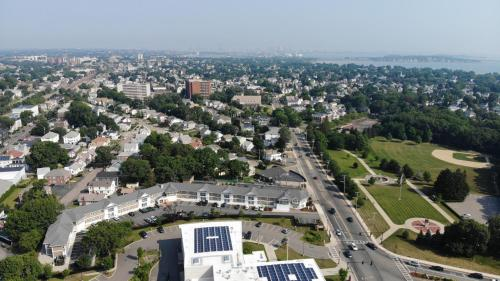 A bird's-eye view of Howard Johnson by Wyndham Quincy/ Boston