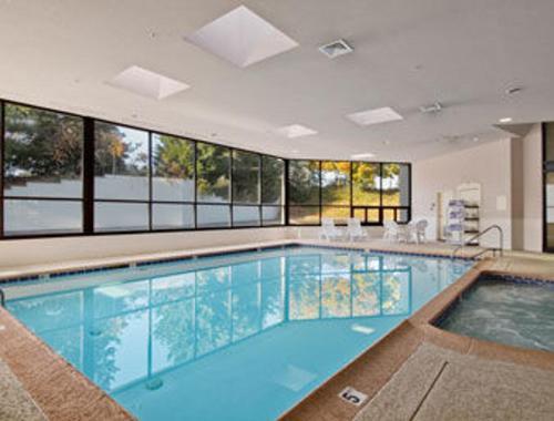 The swimming pool at or near Ramada by Wyndham Harrisburg/Hershey Area