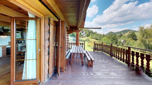 Balkon lub taras w obiekcie Dom z Widokiem
