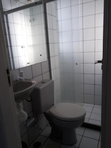 A bathroom at Flat Passo das Águas