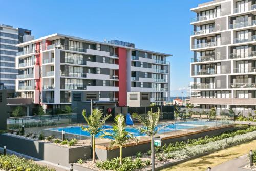 The swimming pool at or near Corporate Apartments Wollongong