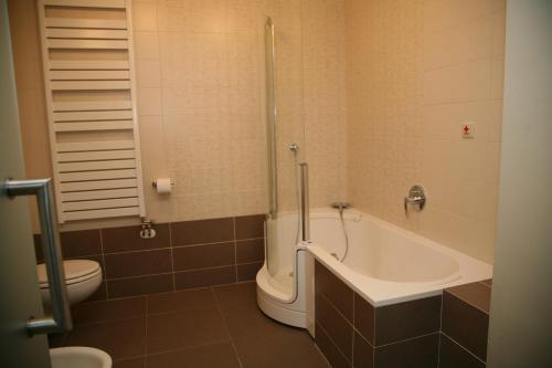 A bathroom at Hotel Zlaty Dukat