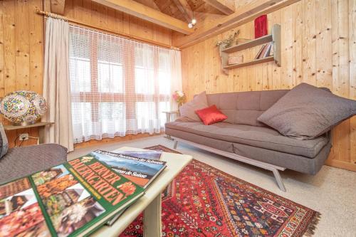 Ein Sitzbereich in der Unterkunft BnB DeHeimelig