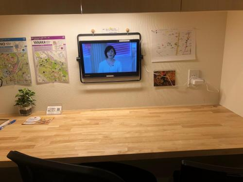 A television and/or entertainment center at Tokyo Art House
