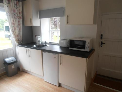 A kitchen or kitchenette at Hungry Hill Lodge