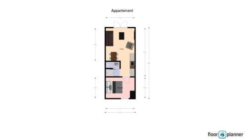 De plattegrond van Gerbrandion Appartement Verhuur
