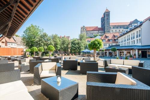 Ein Restaurant oder anderes Speiselokal in der Unterkunft Best Western Hotel Schlossmühle Quedlinburg
