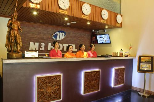 The lobby or reception area at M3 Hotel