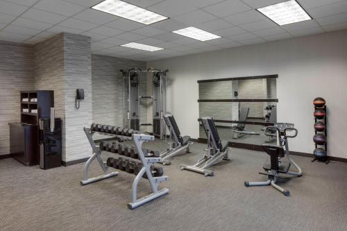 The fitness center and/or fitness facilities at Courtyard by Marriott Boston Logan Airport