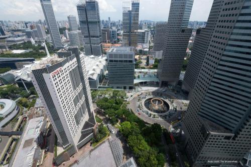 A bird's-eye view of Conrad Centennial Singapore