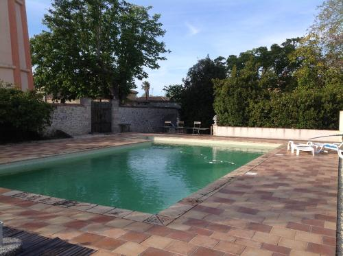 The swimming pool at or near Manoir Saint-Louis