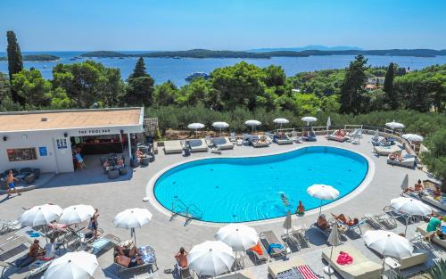 A view of the pool at Pharos Hvar Hotel or nearby