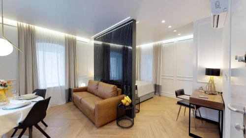 A seating area at Luxury Apartments Illyria in Palace
