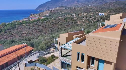 A bird's-eye view of Ouzo Villas 1