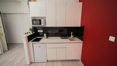 Kuhinja ili čajna kuhinja u objektu Apartments Kruc