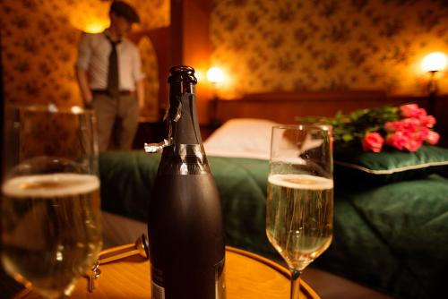 Drankjes bij Le Berger Hotel