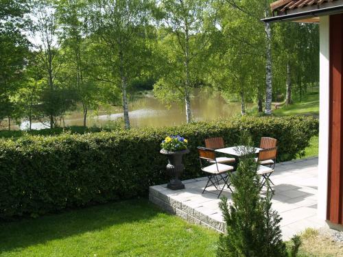 En trädgård utanför Hotel Laurenti