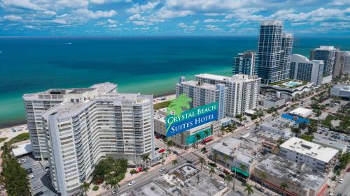 A bird's-eye view of Crystal Beach Suites Oceanfront Hotel