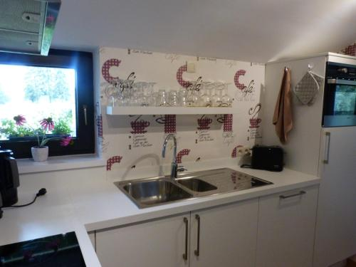 A kitchen or kitchenette at L'Horizon Studios & Apparts