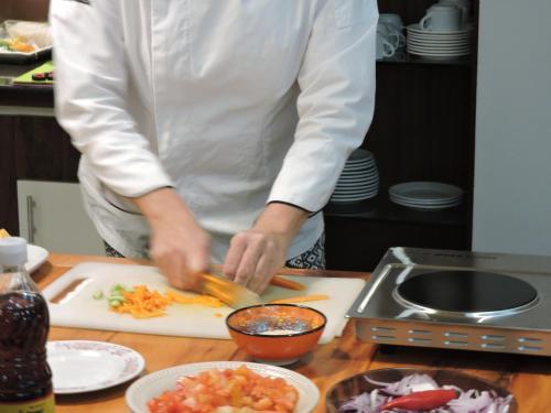 A kitchen or kitchenette at Hotel Gaucha