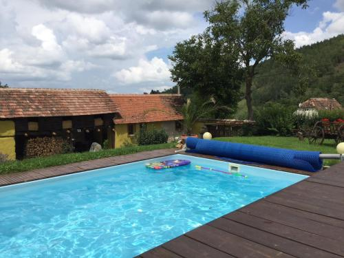 The swimming pool at or near Oma's Hutte