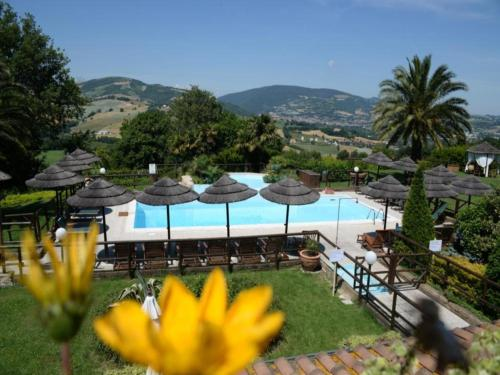 Vista sulla piscina di La Valle Del Sole Country House o su una piscina nei dintorni