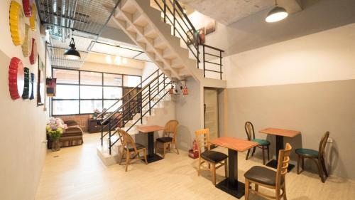 新芽民宿2館 - 輕工業餐廳或用餐的地方