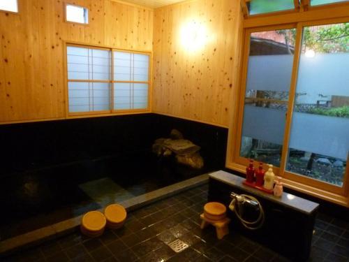 A bathroom at Yudanaka Tawaraya Ryokan