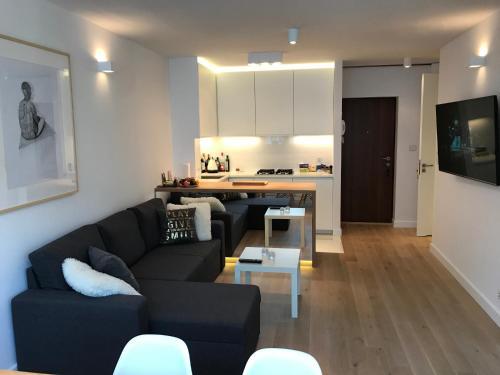 Posezení v ubytování Spirit of Warsaw Apartment