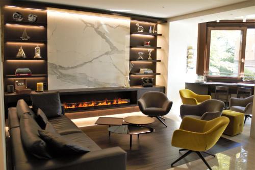 Lounge oder Bar in der Unterkunft Hotel Federale