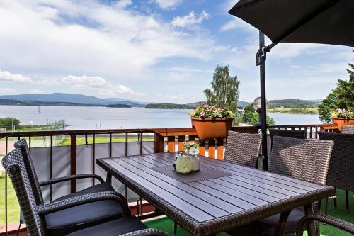 A balcony or terrace at Hotel Racek