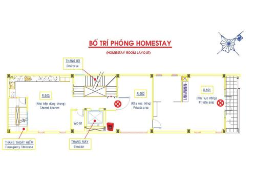 The floor plan of T&T Building Vung tau