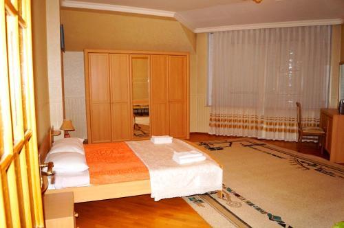 Cama ou camas em um quarto em City Center Aquapark Residence