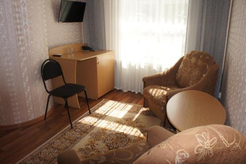 Гостиная зона в Гостиница Акрон