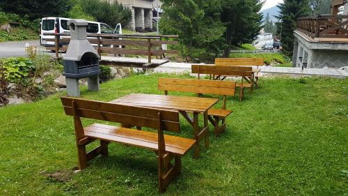 A garden outside Ski Jasna Chalet