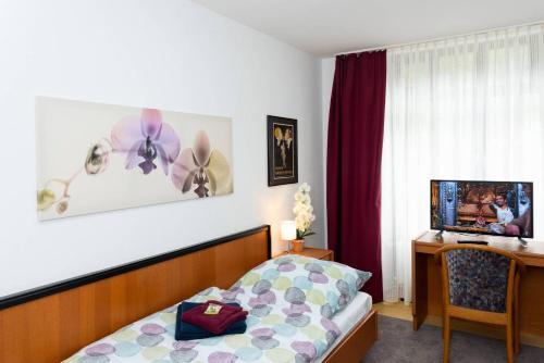 Ein Bett oder Betten in einem Zimmer der Unterkunft Schonblick - gemutlich ubernachten!
